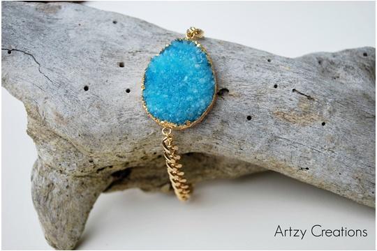 DIY druzy stone bracelet