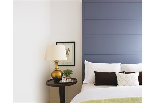 DIY Painted Wood Headboard