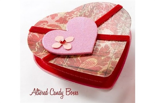 Make it Valentine Altered Candy Boxes