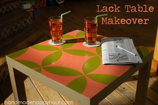 Ikea Lack Table Makeover with Mod Podge