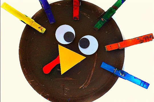 Clothespin Turkey Crafts for Kids