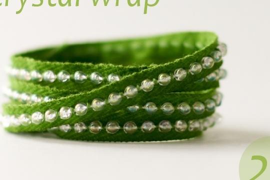 A crystal wrap _ DIY bracelet tutorial