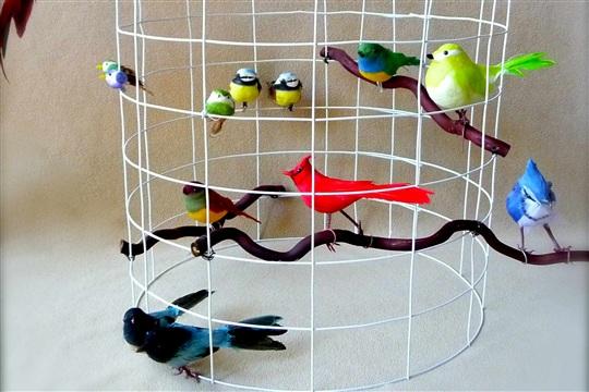 DIY Bird Cage Themed Lamp Shade