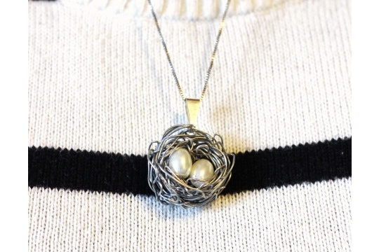 Nest necklace DIY
