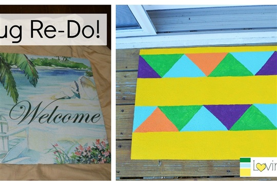 Spring in our Step A Painted Rug Makeover (And happy St. Patrick's Day!)