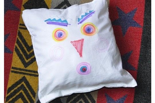 Draw a Face, Make a Pillow