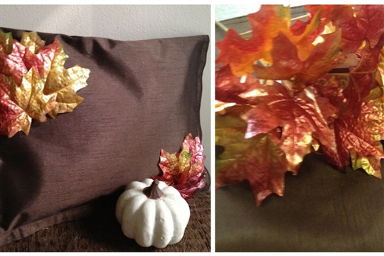 Dollar Tree DIY Frugal Fall No Sew Pillow