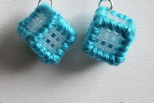 Plastic canvas earrings