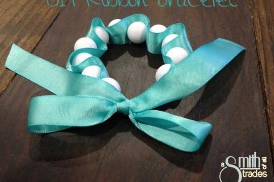 Ribbon bracelet & necklace