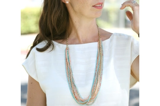 DIY seed bead necklace