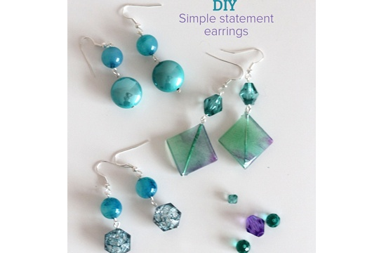 DIY : simple statement earrings