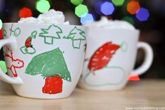Christmas Paint Pen Mugs