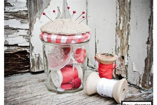 The D.I.Y. Dreamer Pincushion Jar!!!