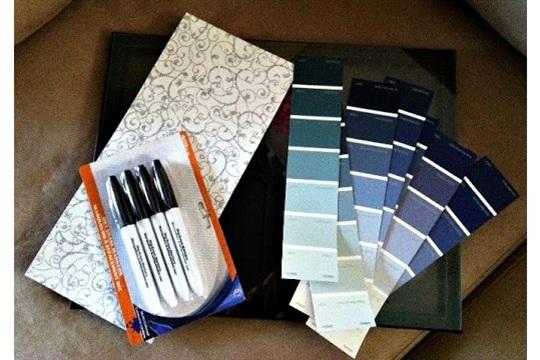 Paint Sample Dry Erase Calendar