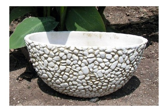 DIY Pebble Planter