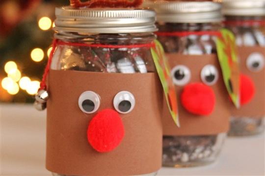 Giving Back This Holiday Season DIY Reindeer Mason Jars