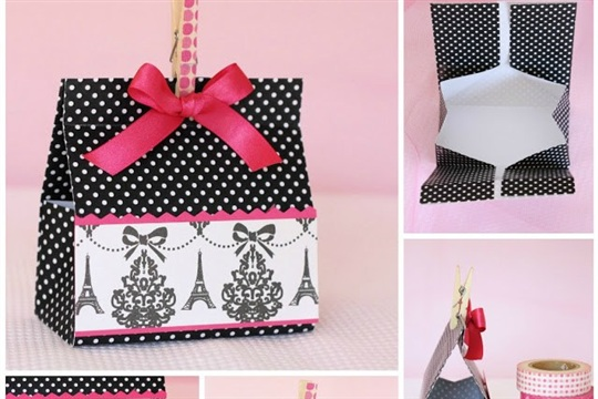 Fold A Gift Box from a Sheet of Cardstock