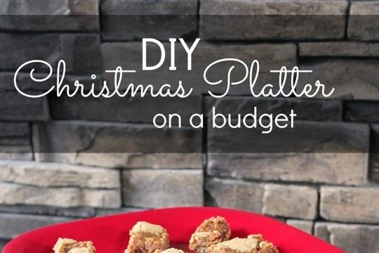 DIY Christmas Platter