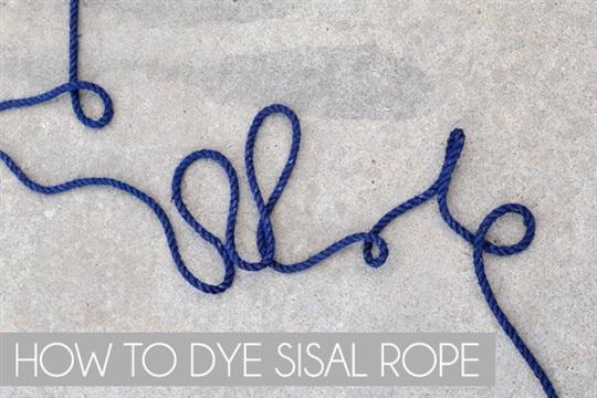 How to Dye Sisal Rope