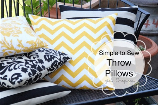 How to Make a Pillow Simple Sewing girl. Inspired.