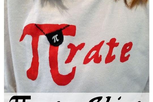 Rate (pirate) Shirt Freezer Paper Stencil Pattern
