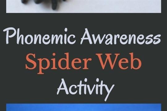 Phonemic Awareness Activity Spider Web Segmenting