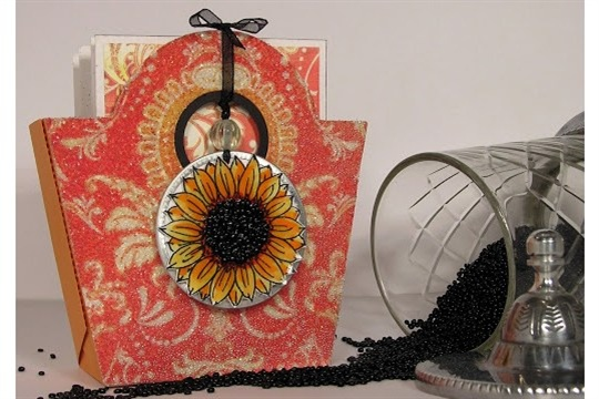 A Year of Flowers Card set in a Bucket Handbag or Purse Box (new template)