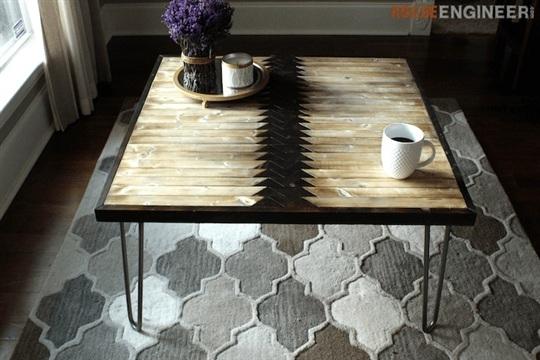 Hairpin Leg Coffee Table { FREE DIY Plans } Rogue Engineer