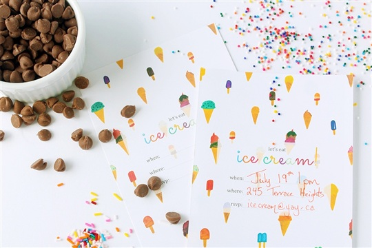 Squirrelly Minds » Print | Printable Ice Cream Party Invitation