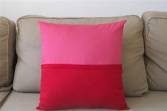 Color Block Pillow With Hidden Zipper