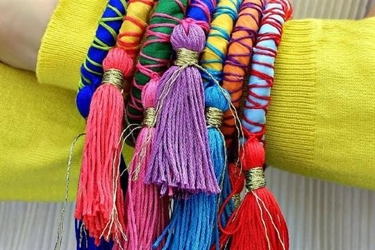 Rope and Tassel Bangles