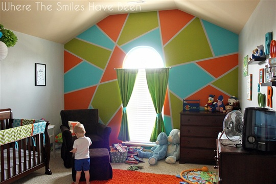 Bright and Bold Accent Wall & FrogTape Earn Your Stripes Contest!