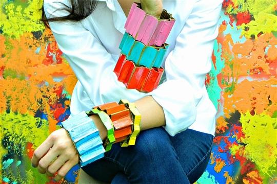 Couture Cardboard Cuffs DIY