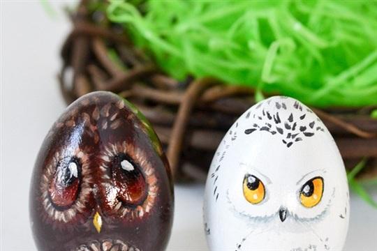 Owl Easter Eggs
