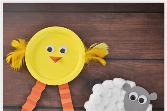 Chick & Lamb Easter Craft