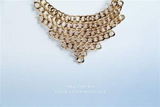 DIY Chain Layer Necklace