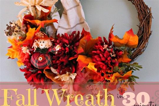 30 Minute Fall Wreath