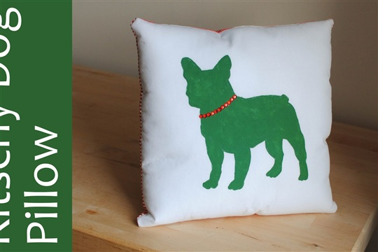 Kitschy Dog Pillow
