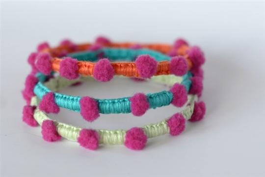 Mary & Patch Pompon bracelets