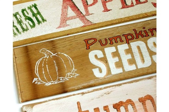 Fall Decor with DIY Fall Signs