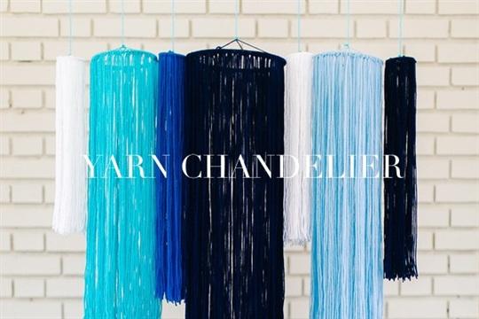 DIY Yarn Chandelier