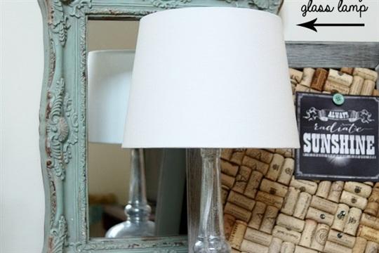 DIY Upcycle Liquor Bottle to Mercury Glass Lamp