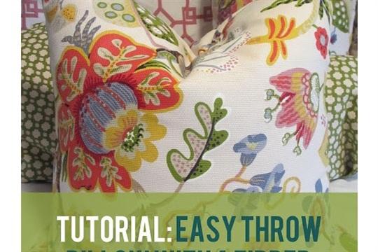 Tutorial Throw Pillow with a Zipper