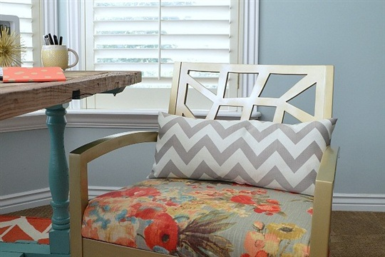 How to Upholster a Chair Seat and Our Master Bedroom Nook Sneak Peek!