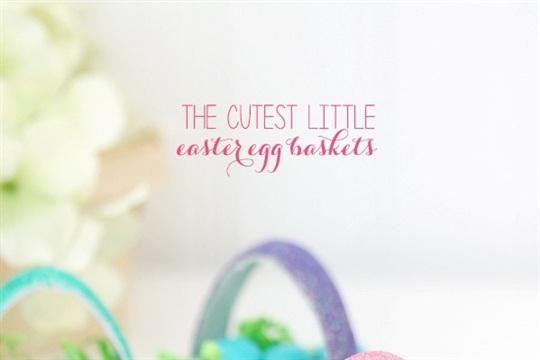 Itty Bitty Paper Mache Easter Baskets
