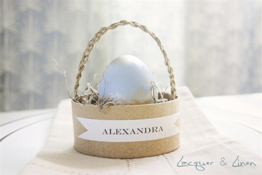Easter Basket Place Settings Lacquer & Linen