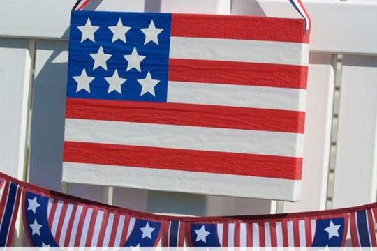 Patriotic Flag Crafts DIY a Duct Tape Flag
