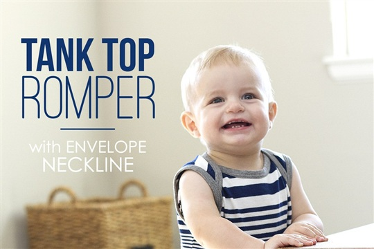 Tank Top Romper with Envelope Neckline (...from an old Tshirt)