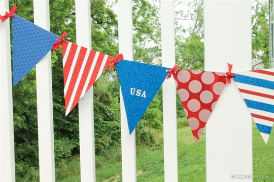 Fourth of July Glitter Banner