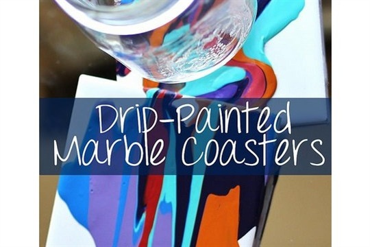 Drip Painted Marble Coasters Guest Post Olivia from DIY Mother